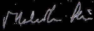 Malcolm Pein signature