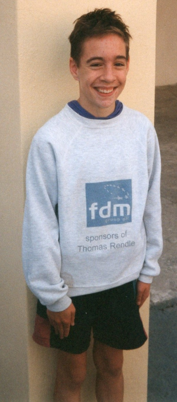Tom Rendle, sponsored by local printing company, FDM. Courtesy of Gary Lane