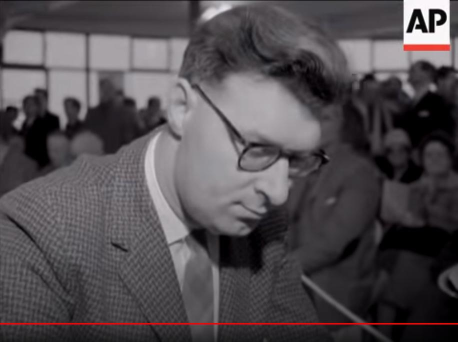 John Littlewood at Hastings 1963-4. Still taken from Pathe news reel footage