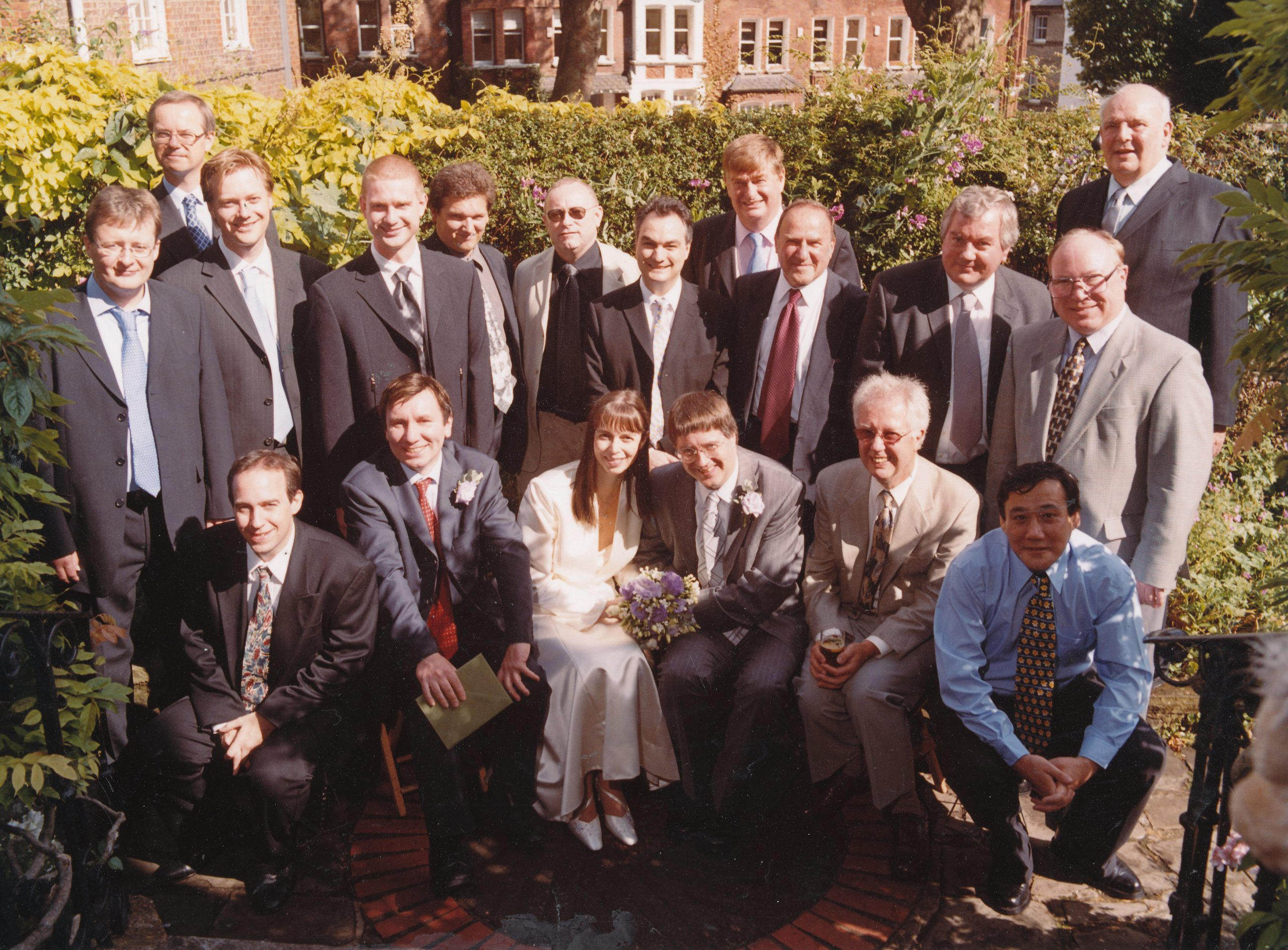 James Sherwin, middle row, third from right