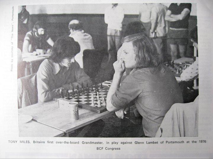 Tony plays Glenn Lambert during the 1976 BCF Congress in Portsmouth. Photo courtesy of Tony Williams