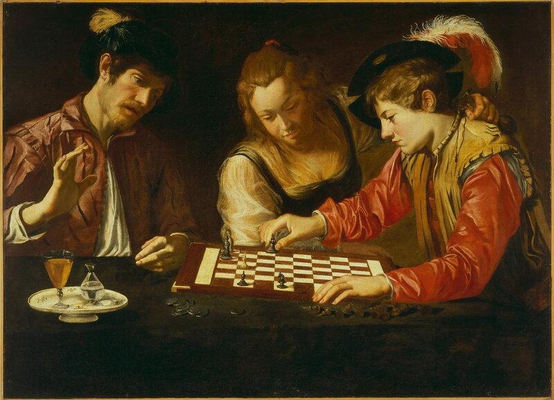 CARAVAGGIO (Michelangelo Merisi da) (1571 – 1610) Schachspieler.