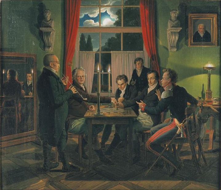 HUMMEL Johann Erdmann (1769 – 1852) Die Schachpartie. 1818