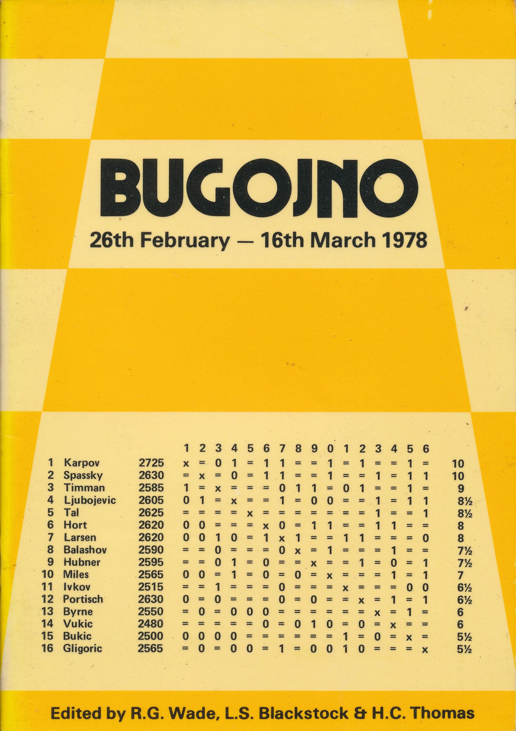 Bugojno, 1978, RG Wade, LS Blackstock and HC Thomas, Master Chess Publications, 1978