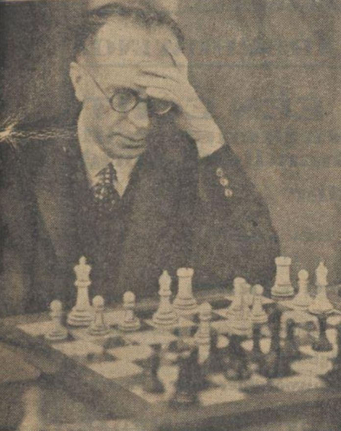 Edward G Sergeant in Hastings 1929/30, found in De Sumatra 02.01.1930. Retrieved by Richard James from https://www.chess.com/blog/introuble2/100-years-ago-chess-in-london-during-world-war-i