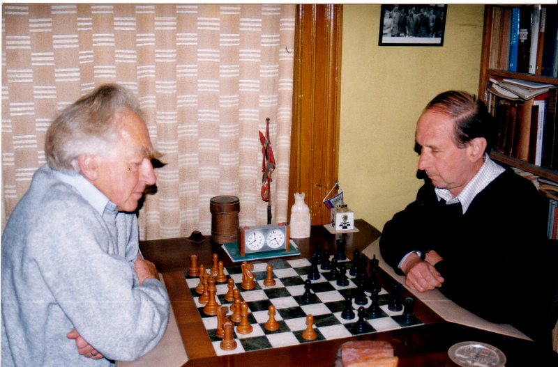 Peter and life long friend, Jonathan Penrose, Courtesy of Keverel Chess