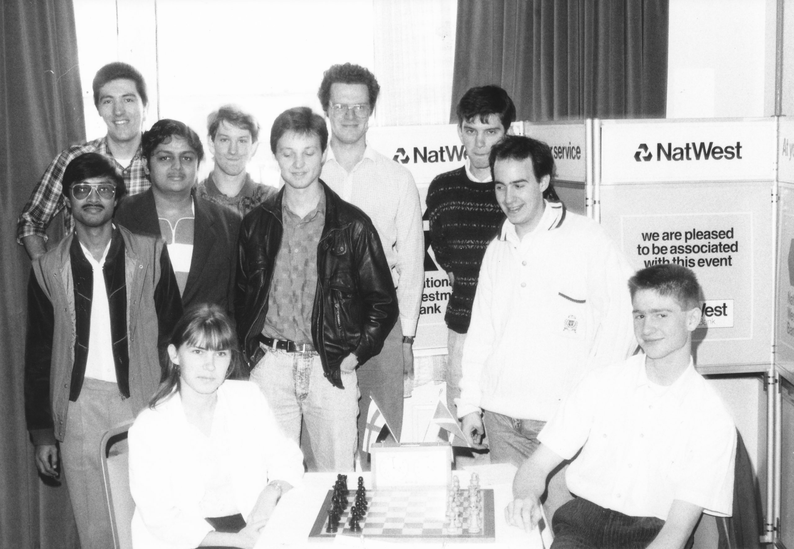 IM Vaidyanathan Ravikumar and friends at the 1990 NatWest Young Masters