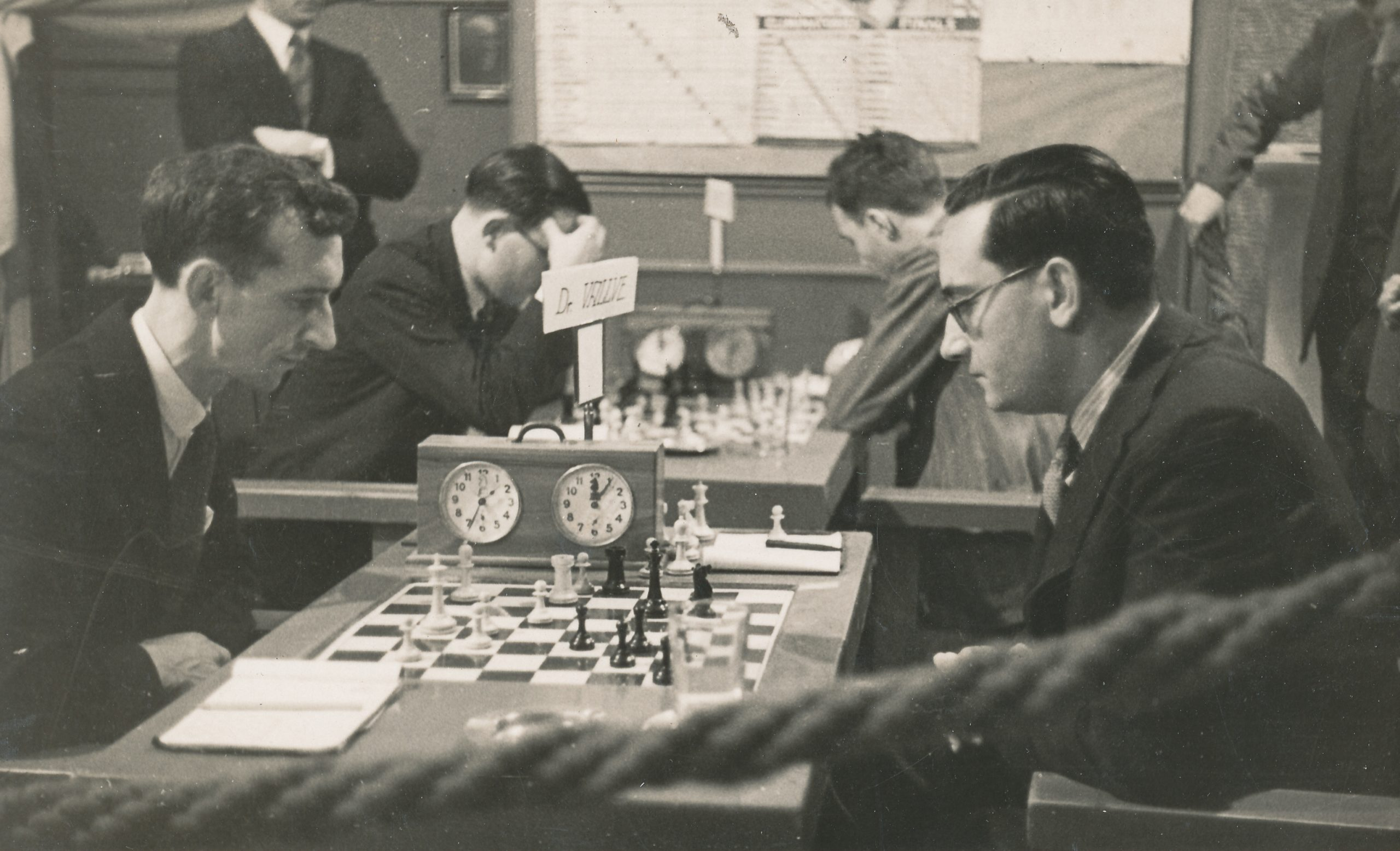 Brian Reilly playing Dr. Josep Vallve probably at Barcelona Chess Club in June 1935. Brian won in 61 moves.