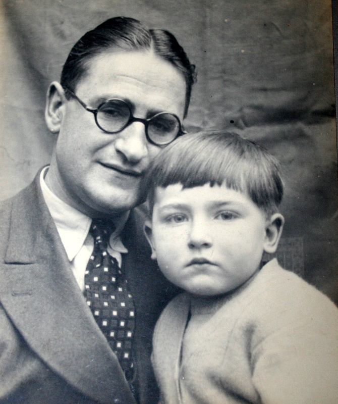 Peter Clarke with father, Courtesy of Keverel Chess