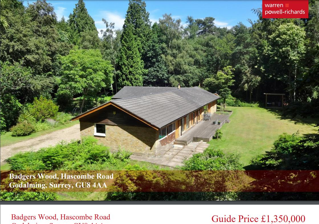 Badgers Wood, Hascombe Road, Godalming, Surrey, GU8 4AA
