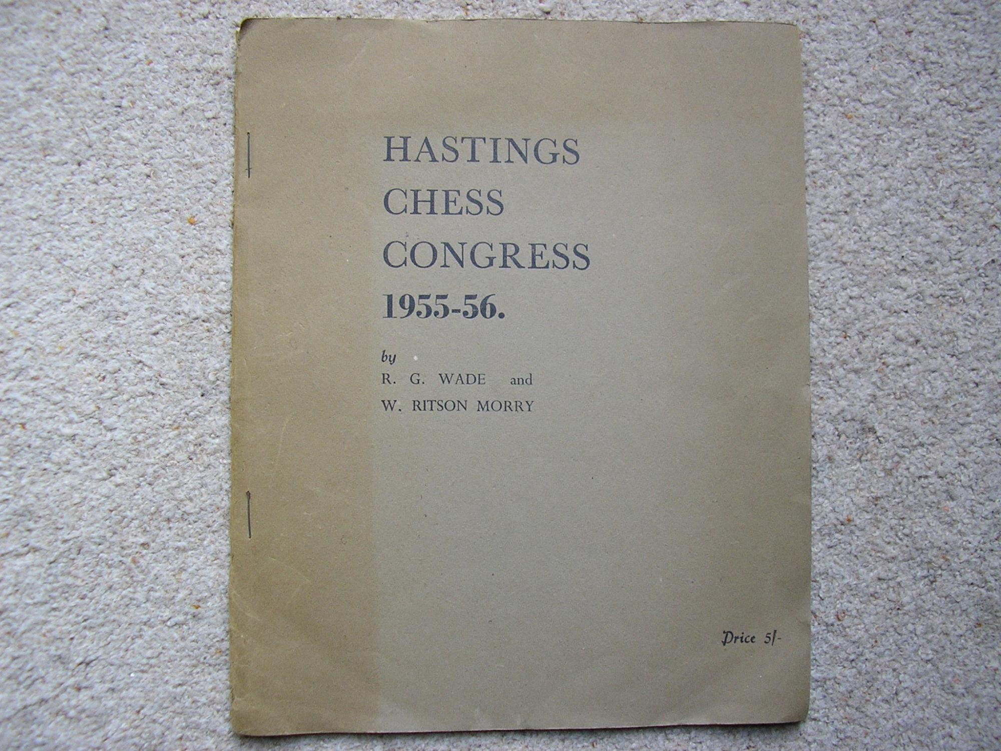 Hastings Chess Congress 1955-56, RG Wade & W. Ritson Morry, En Passant Chess Publications