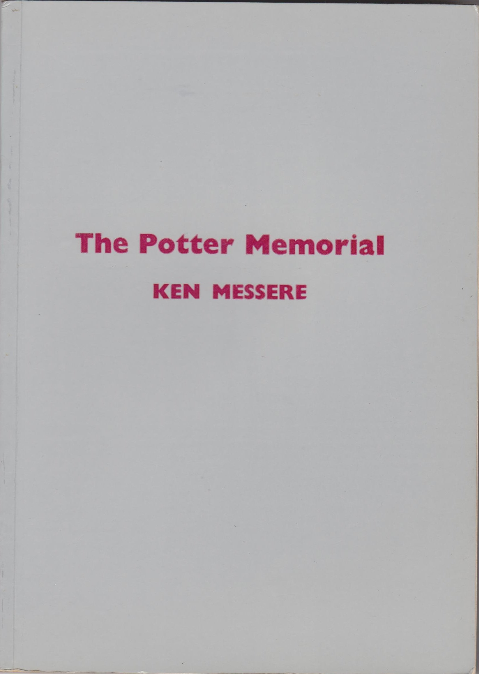 The Potter Memorial, Ken Messere, Chess (Sutton Coldfield), 1979