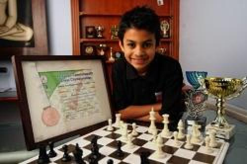 Ravi aged 8 photographed by The Borehamwood and Elstree Times in January 2008