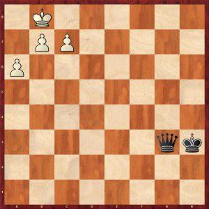 Q v 3 Pawns