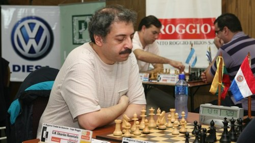 GM Eduardas Rozentalis at the Jersey International, 2013.