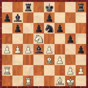 Karpov-Larsen Brussels 1987 Move 22