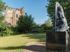 Alice Through the Looking Glass in the grounds of Guildford Castle
