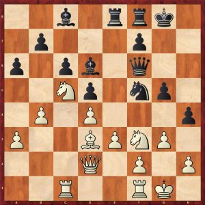 Aronian-Anand Baden-Baden Move 23 Black to move