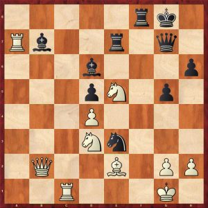 Aronian-Anand Baden-Baden Variation 1 Move 27 Black to move