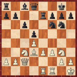 Botvinnik-Keres Moscow 1952 Move 17 Black to play