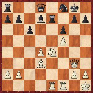 Botvinnik-Keres Moscow 1952 Move 23 Black to play