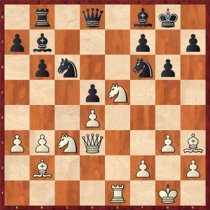Botvinnik-Petrosian Moscow 1964 Move 20 Black To Move