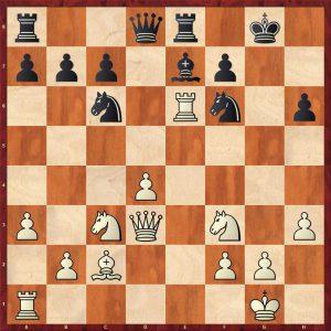 Grandelius-Zatonskih IOM 2017 Move 17 Black to move