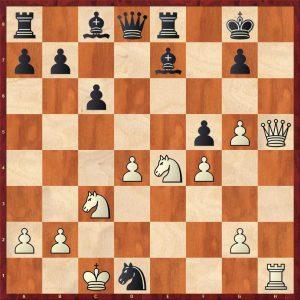 Gulko-Van der Sterren Amsterdam 1988 Move 19 Black to play