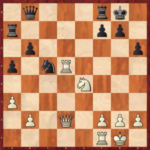 Kasparov-Karpov Valencia rapid match (2) Move 22