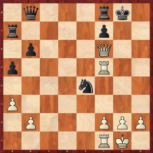 Kasparov-Karpov Valencia rapid match (2) Move 27