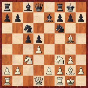 Novotelnov-Bonarevsky Moscow 1951 Move 9 Black to move