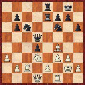 Novotelnoy-Bondarevsky Moscow 1951 Move 21 White to move