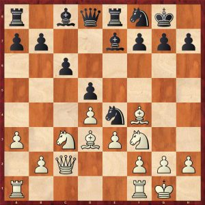 Petrosian-Beliavsky Moscow 1983 Move 12 Black to move