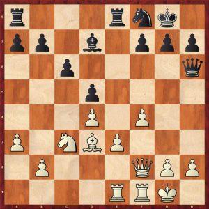 Petrosian-Beliavsky Moscow 1983 Move 17 Black to move