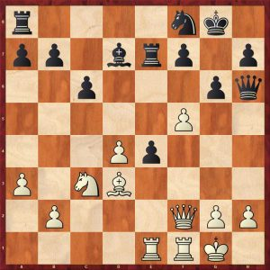 Petrosian-Beliavsky Moscow 1983 Move 20 White to move