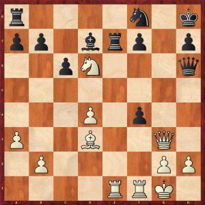 Petrosian-Beliavsky Moscow 1983 Move 23 White to move