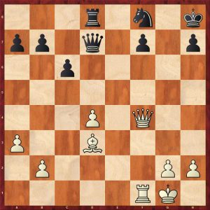 Petrosian-Beliavsky Moscow 1983 Move 26 White to move