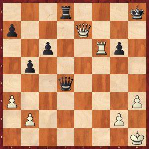 Petrosian-Beliavsky Moscow 1983 Move 32 Black to move