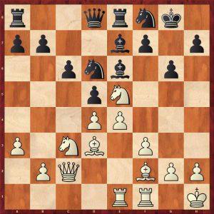 Petrosian-Beliavsky Moscow 1983 Variation 1 Move 19 Black to move