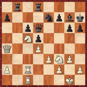 Petrosian-Krogius Tbilisi 1959 Move 23 Black to play