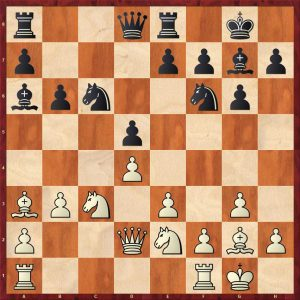 Robert Byrne-Bobby Fischer New York 1964 Move 12 Black to move