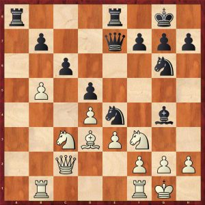 Taimanov-Nezhmetdinov Kiev Move 17 White to play