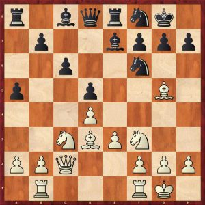 Taimanov-Nezhmetdinov Kiev Move 12 White to play