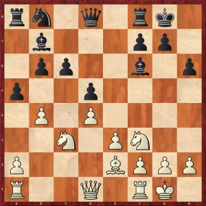 Topalov-Kramnik Linares 1998 Move 13 White to move
