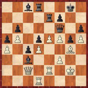 Topalov-Kramnik Linares 1998 Move 41 Black to move