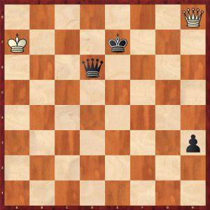 Ed. Lasker-Marshall USA 1923 Variation 1 Move 84 Black to play