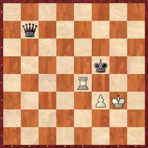 Queen v Rook + Pawn Breaking the Fortress