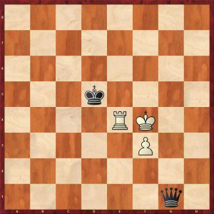 Queen v Rook + Pawn Breaking the Fortress Move 18 White to move