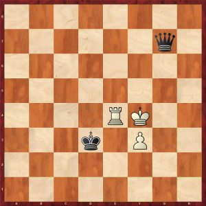 Queen v Rook + Pawn Breaking the Fortress Move 22 White to move