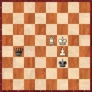 Queen v Rook + Pawn Breaking the Fortress Move 32 White to move